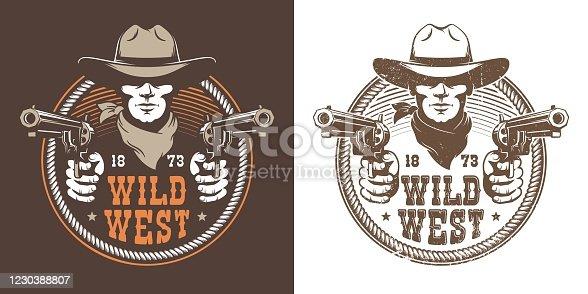 istock Cowboy with guns 1230388807