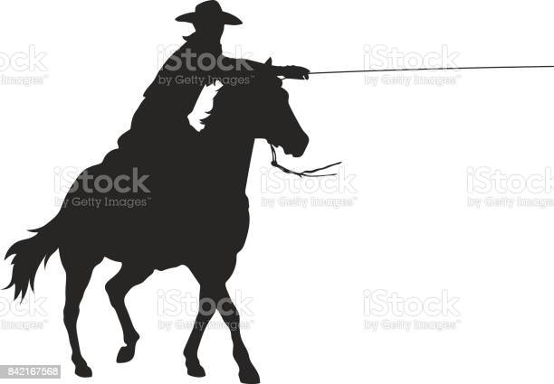Cowboy with lasso riding a horse isolated vector silhouette vector id842167568?b=1&k=6&m=842167568&s=612x612&h=einw63bwslngnhm7otgdk6wnw13tqcmgwlrp84rvfws=