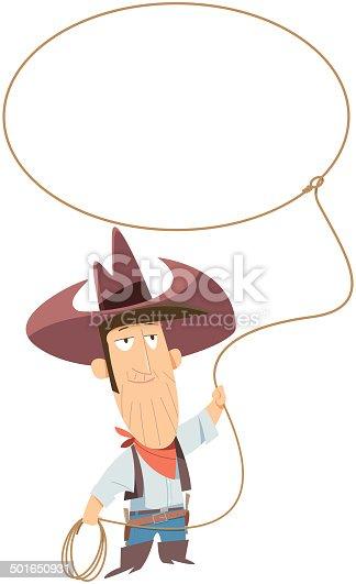 istock Cowboy with lasso 501650931