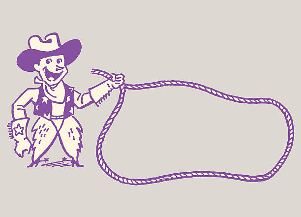 Cowboy with Lasso http://csaimages.com/images/istockprofile/csa_vector_dsp.jpg rancher illustrations stock illustrations