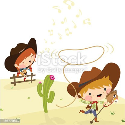 istock Cowboys, Illustration, Vector. 156779579
