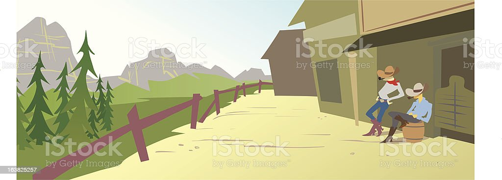 Cowboys in Montana Scenery royalty-free cowboys in montana scenery stock vector art & more images of backgrounds