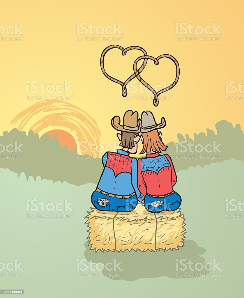 Cowcouple royalty-free stock vector art