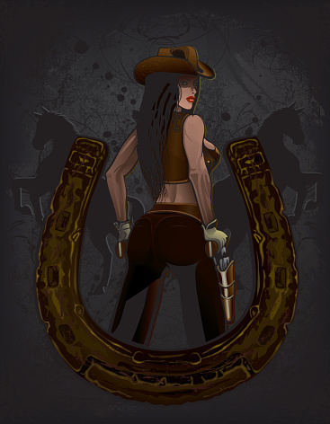 Cowgirl and Horseshoe