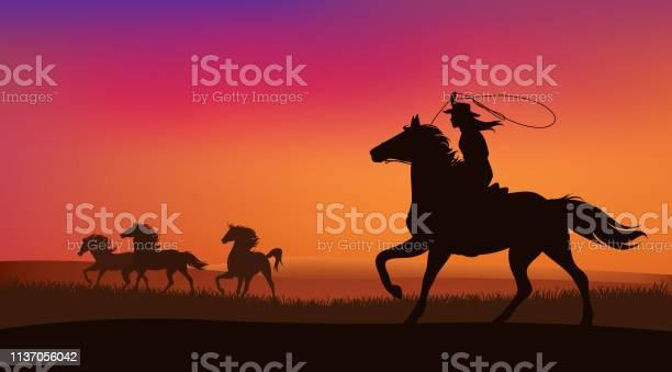 Cowgirl and mustang horses herd vector scene vector id1137056042?b=1&k=6&m=1137056042&s=612x612&h=jsyadzmmttac03f6eerayj0xb oo2efanndj3qj ihu=