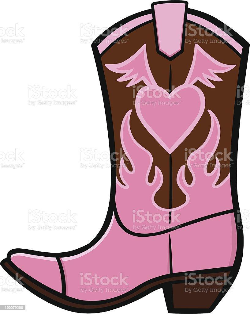 Cowgirl Boot vector art illustration