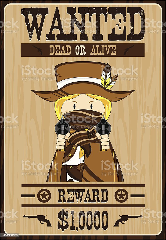 Cowgirl Cowboy Outlaw Poster royalty-free cowgirl cowboy outlaw poster stock vector art & more images of aiming