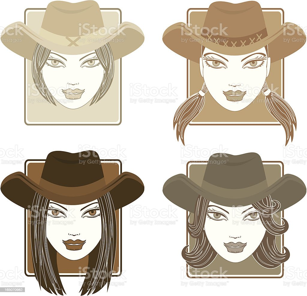 Cowgirl royalty-free cowgirl stock vector art & more images of adult