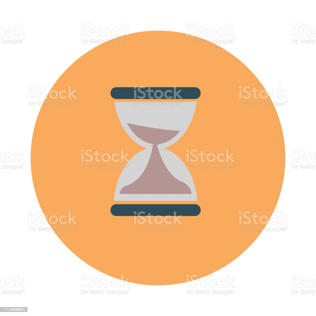 Coworking Time Management Sand Watch Flat On White