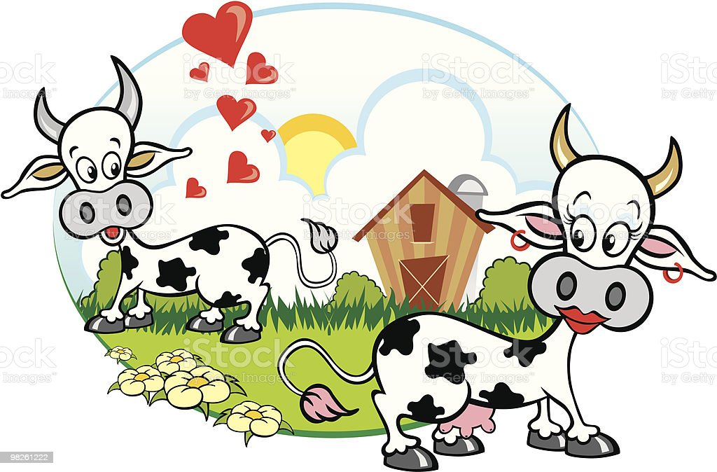 Cows in love royalty-free cows in love stock vector art & more images of animal