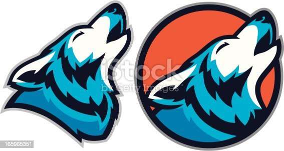 This Coyote mascot or Wolf Mascot pack is great for any school or sport based design.