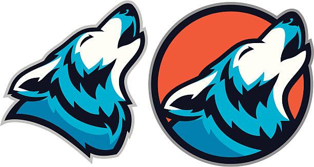 bildbanksillustrationer, clip art samt tecknat material och ikoner med coyote wolf mascot pack - varg