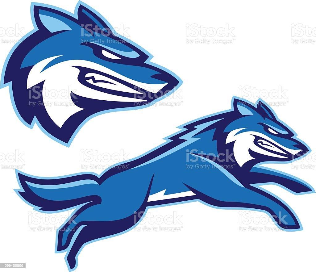 Coyote Wolf Mascot