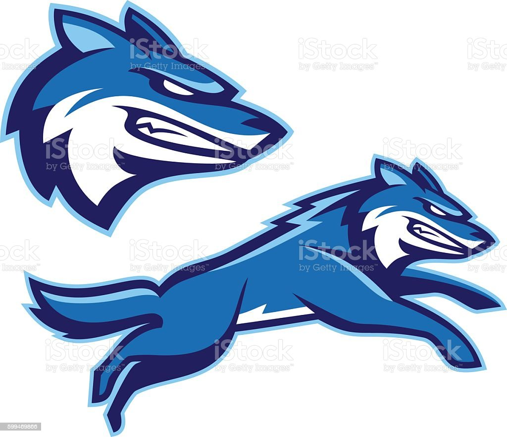 Coyote Wolf Mascot vector art illustration