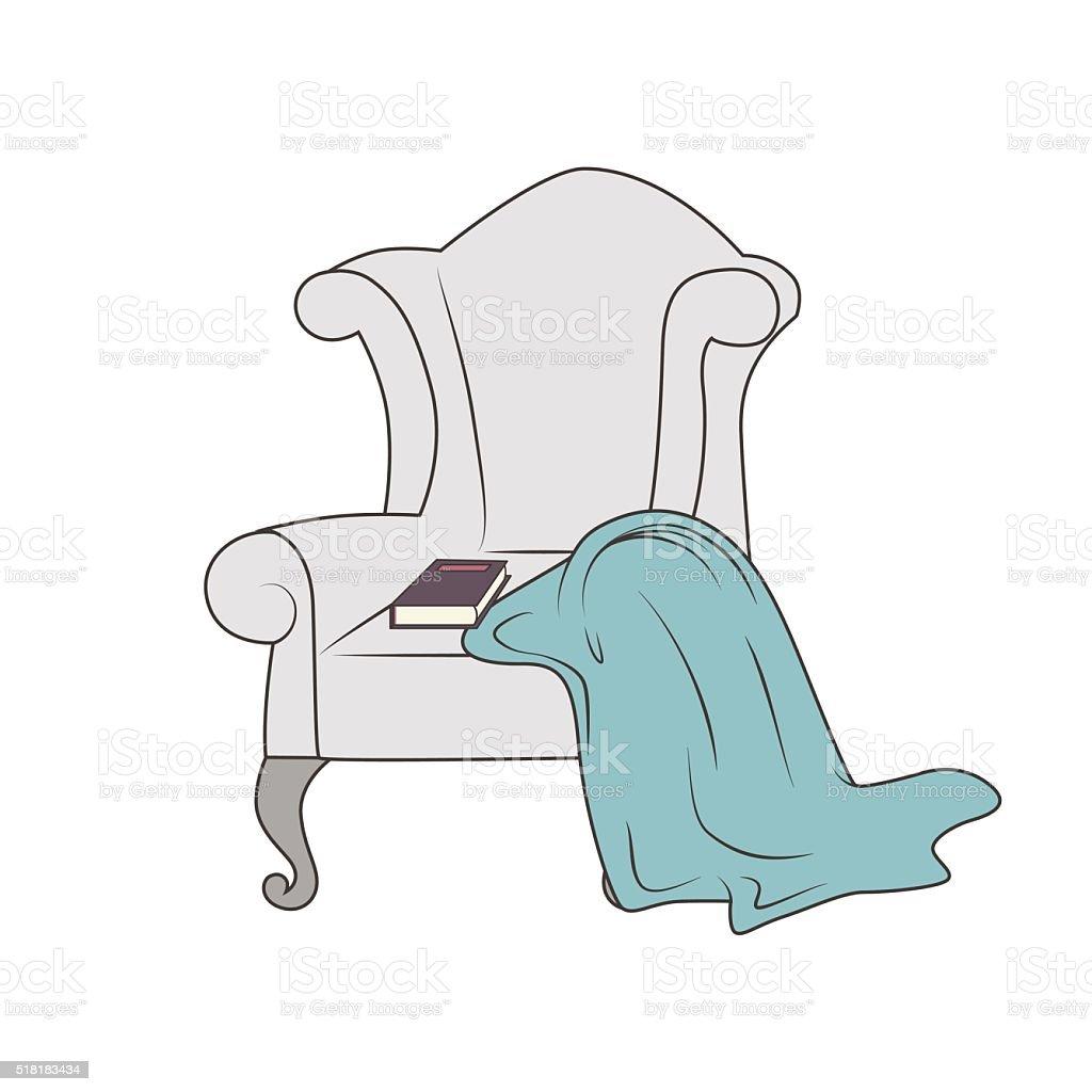 Cozy armchair vector art illustration