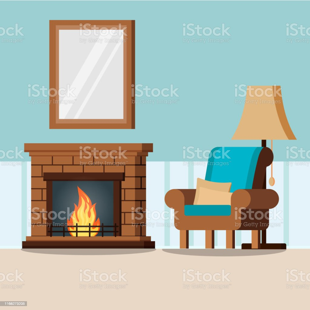 Miraculous Cozy Home Living Room Interior Background With Fireplace Interior Design Ideas Gresisoteloinfo