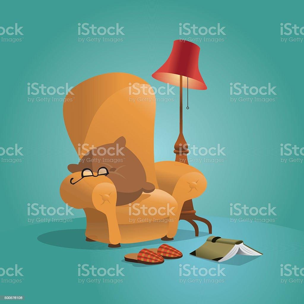 Cozy Home Sofa vector art illustration