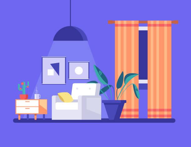 Cozy living room catalog photo advertisement concept. Vector flat cartoon graphic design illustration vector art illustration