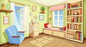 Cozy room interior. Vector illustration.