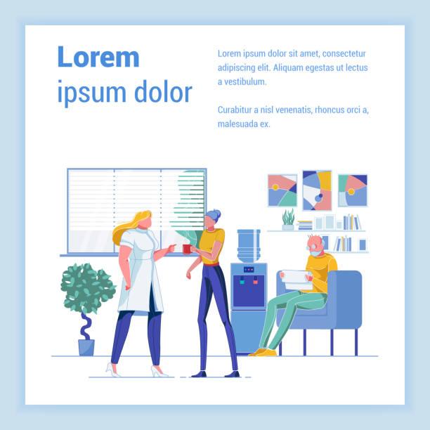 ilustraciones, imágenes clip art, dibujos animados e iconos de stock de acogedora sala de espera en geriatric medicine clinic - geriatría