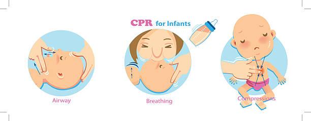 cpr baby - puppenkurse stock-grafiken, -clipart, -cartoons und -symbole