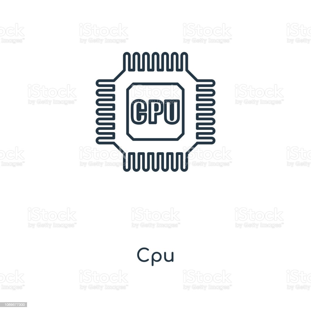 cpu icon simple outline illustration stock illustration download image now istock cpu icon simple outline illustration stock illustration download image now istock