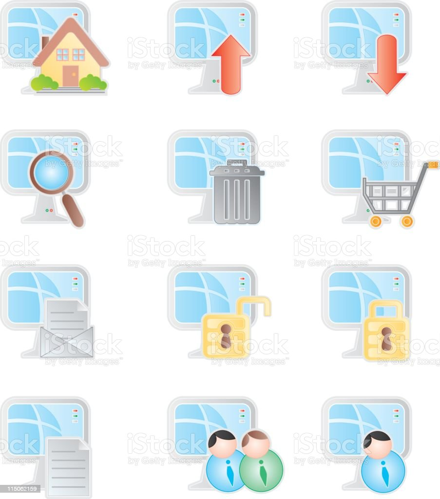 CpuWeb Icon royalty-free stock vector art