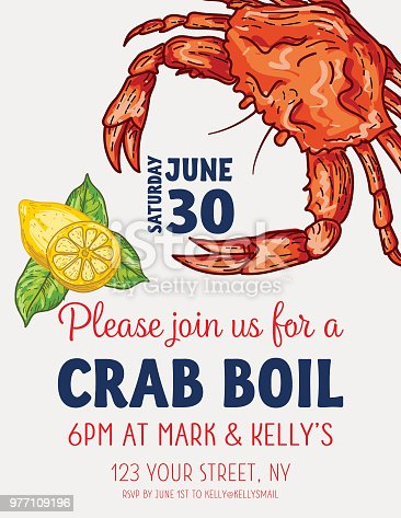 istock Crab Boil Invitation Template 977109196