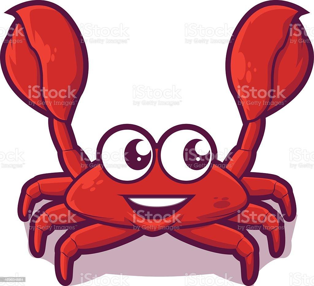Crab Cartoon Icon vector art illustration
