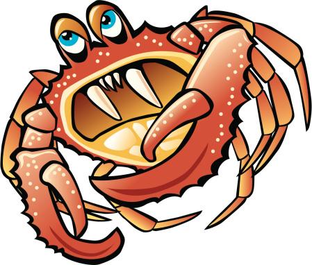 Crab Cartoon With Big Teeth