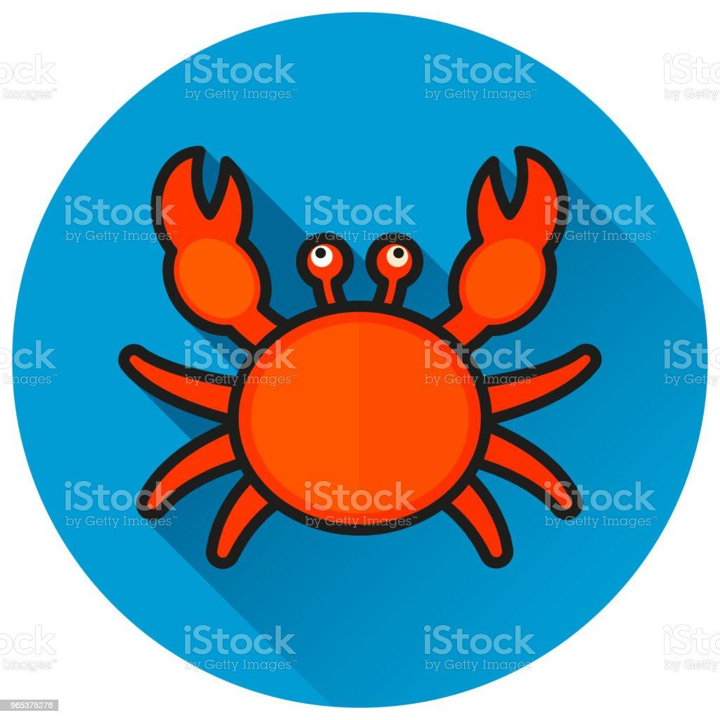 crab circle blue flat icon crab circle blue flat icon - stockowe grafiki wektorowe i więcej obrazów białe tło royalty-free