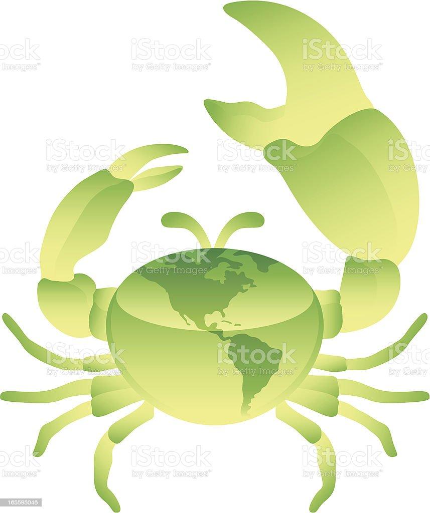 Globo de cangrejo ilustración de globo de cangrejo y más banco de imágenes de conceptos libre de derechos
