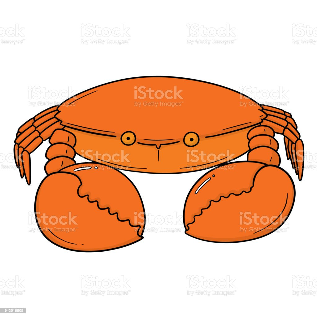 crab vector art illustration