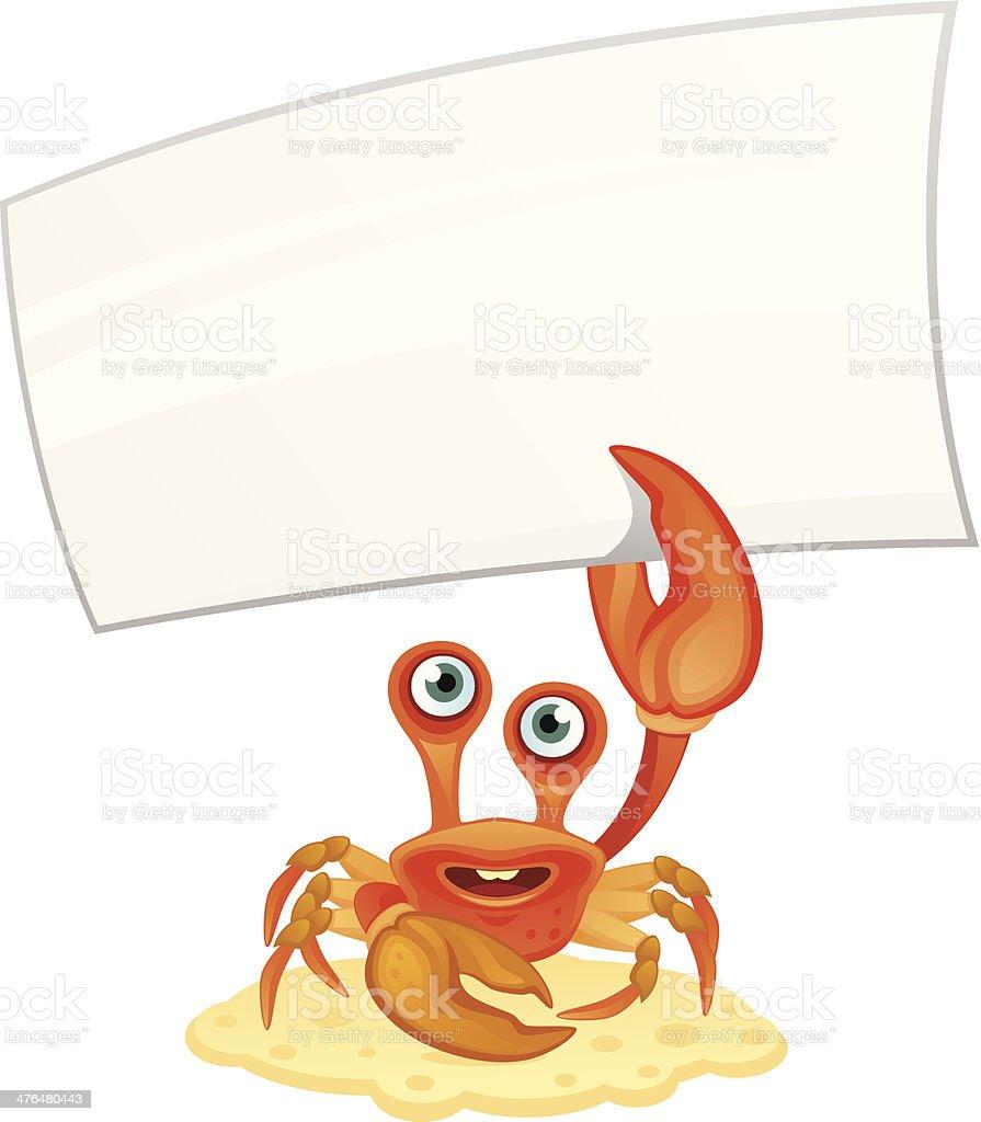 Ilustración de Cangrejo Con Mensaje y más banco de imágenes de ...