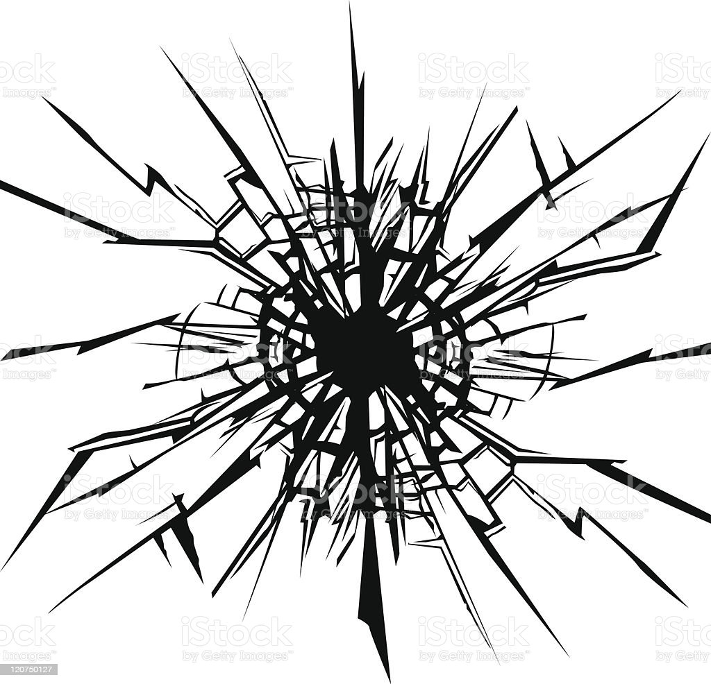 Crack vector art illustration