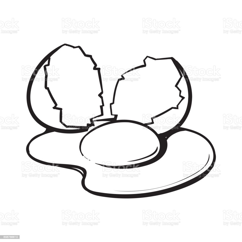 egg broken coloring pages - photo#22