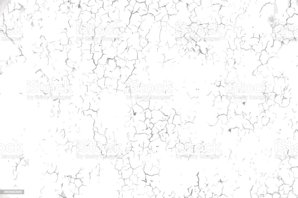 Cracked concrete wall texture vector art illustration