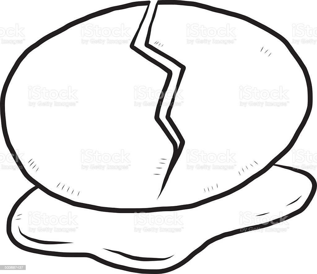 Cracked Egg Stock Vector Art & More Images of Animal 500687437 | iStock