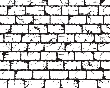 Cracked wall vector background