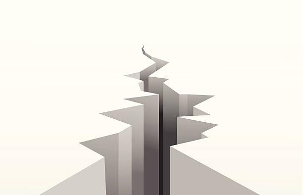 cracked white surface The cracked white surface. A vector illustration earthquake stock illustrations