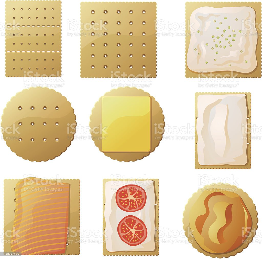 Crackers vector art illustration