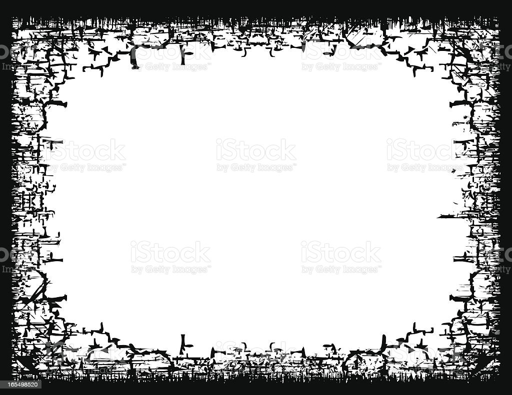 Crackly Grunge Border royalty-free crackly grunge border stock vector art & more images of backgrounds