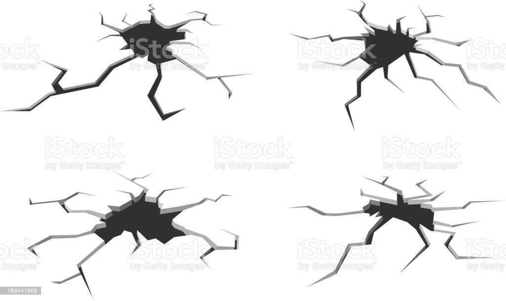 Cracks and breaks illustration vector art illustration