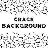 istock Cracks background with text 667333346