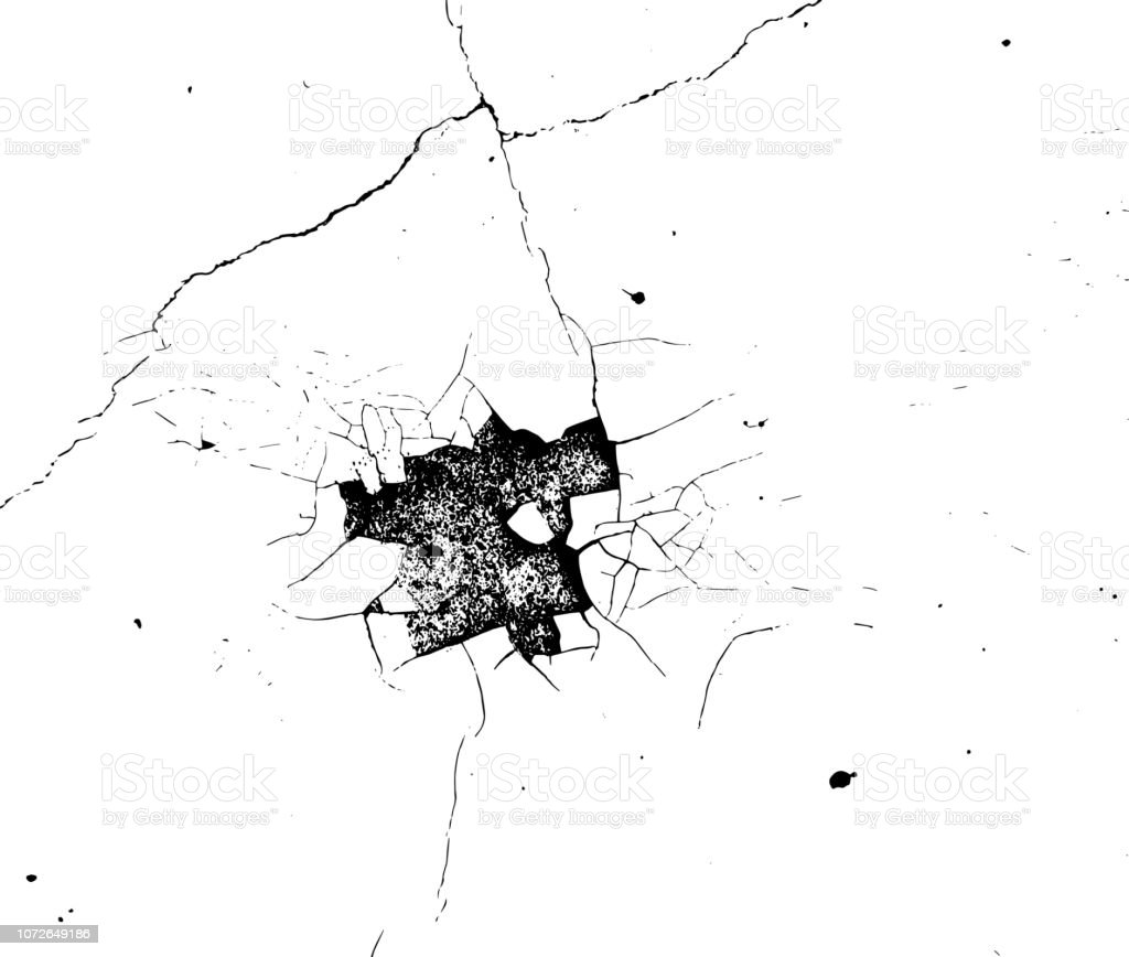 Cracks texture overlay. Vector background vector art illustration