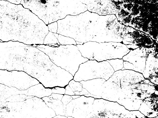 cracks texture overlay. vector background - crack stock illustrations, clip art, cartoons, & icons