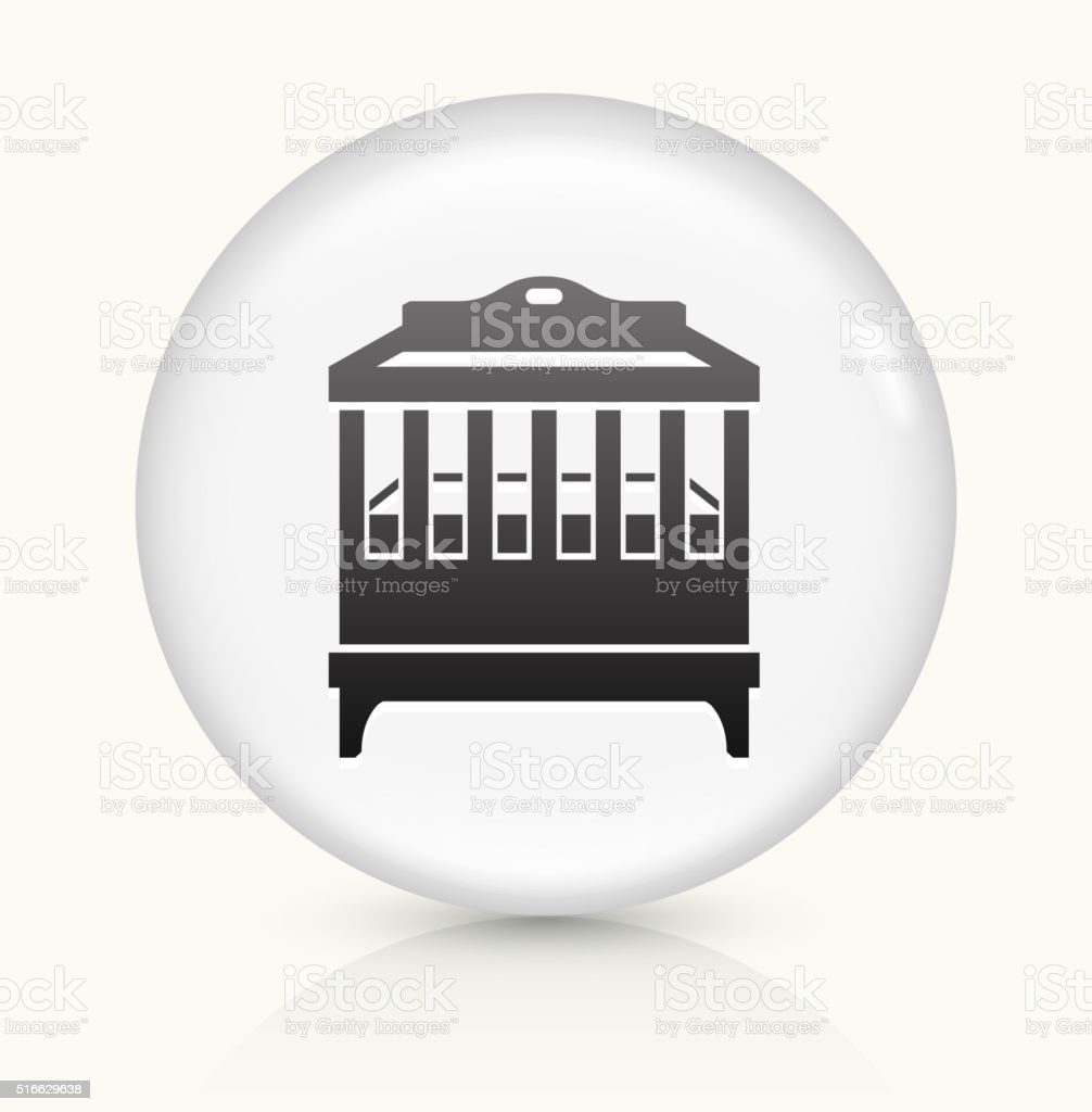 Cradle icon on white round vector button vector art illustration