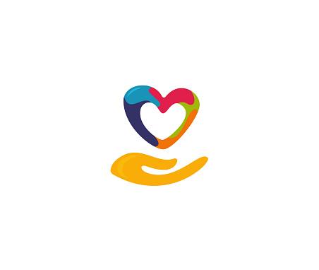 Crae life heart love sign design