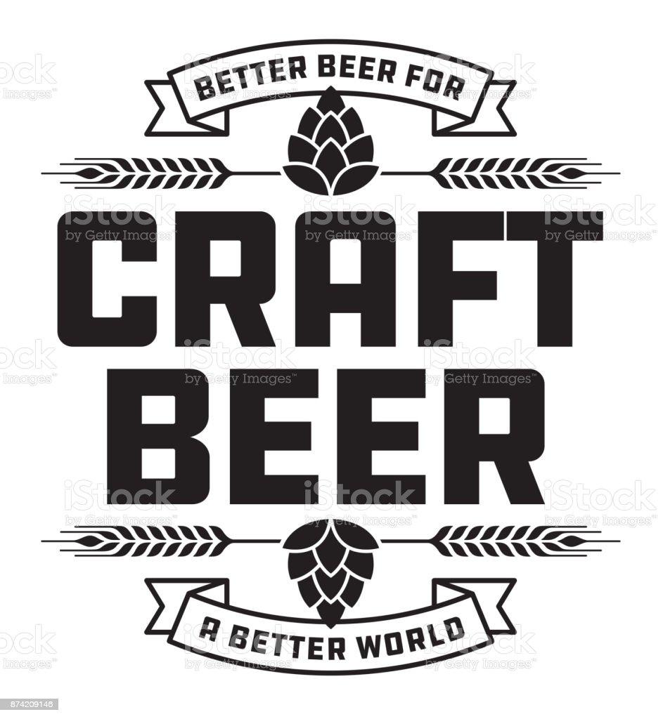 Craft Beer Badge or Label. vector art illustration