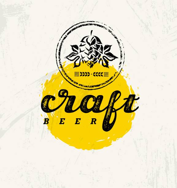 Craft Beer Brewery Artisan Creative Vector Stamp Sign Concept. Rough Handmade Alcohol Banner. Menu Page Design Craft Beer Brewery Artisan Creative Vector Stamp Sign Concept. Rough Handmade Alcohol Banner. Menu Page Design Element On Stained Background community drawings stock illustrations